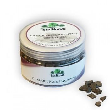 Ghassoul noir en morceaux pour peau et cheveux - BioManat