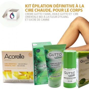 SET 3 Permanent Body Hair Removal, Oriental Wax & Ant egg cream & Oil