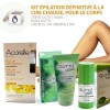 SET 3 Permanent Body Hair Removal, Roll-on Wax & Ant egg Cream & Oil
