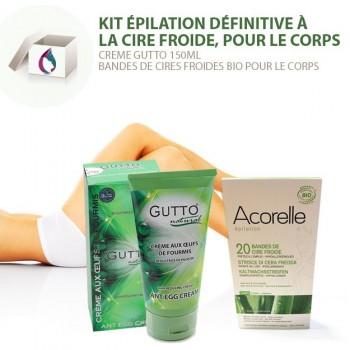 Kit 1 Epilation définitive, Cire froide & Crème anti-repousse, Corps