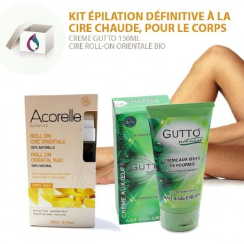 SET 1 Permanent Body Hair Removal, Roll-on Wax & Ant egg Cream