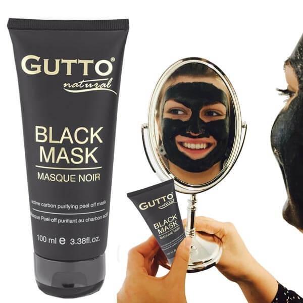 Masque Noir peel-off au charbon actif - Gutto
