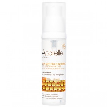 Organic anti-ingrown hair care with honey extract – Acorelle