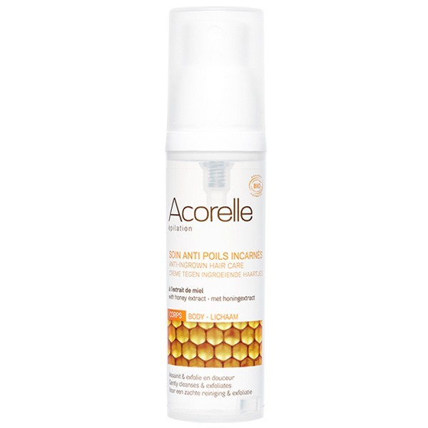 Organic anti-ingrown hair spray with honey extract, body use – Acorelle