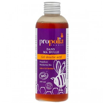 "Gel douche actif bio ""Dans ma bulle"" - Propolis, Mandarine - Propolia"