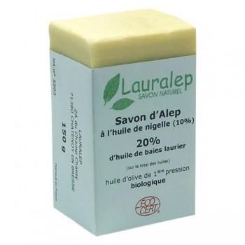 Savon d'Alep à l'huile de nigelle BIO 150 g - Lauralep