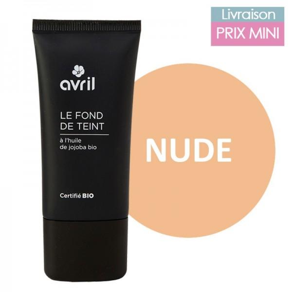 Fond de teint liquide bio - nude - Avril