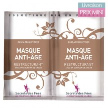 Anti-aging face mask with hyaluronic acid and cocoa - Secrets des Fées