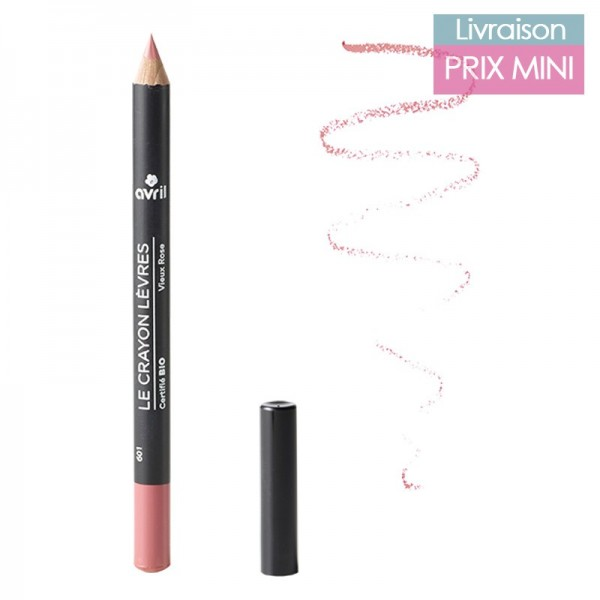 Crayons contour des lèvres bio, Vieux Rose - Avril