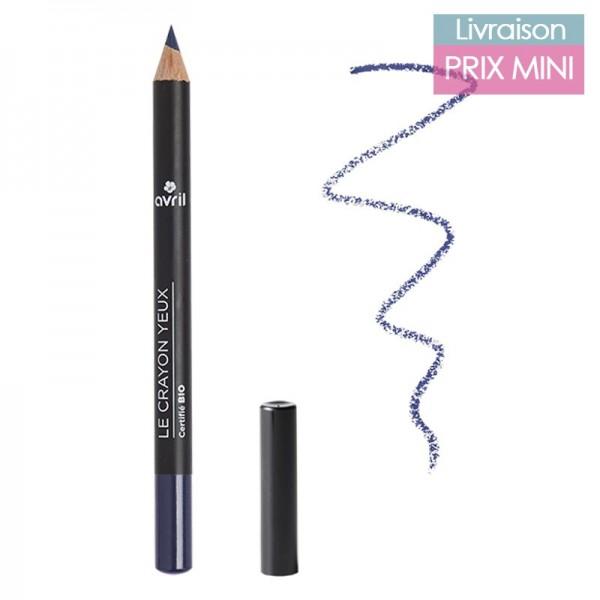 Crayon pour les yeux couleur bio, Bleu Nuit - Avril