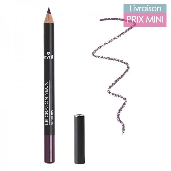 Crayon pour les yeux couleur bio, Prune - Avril