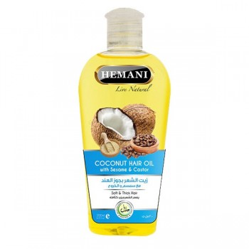 Huile duo : Huile coco et huile de graine de sésame pour cheveux - Hemani