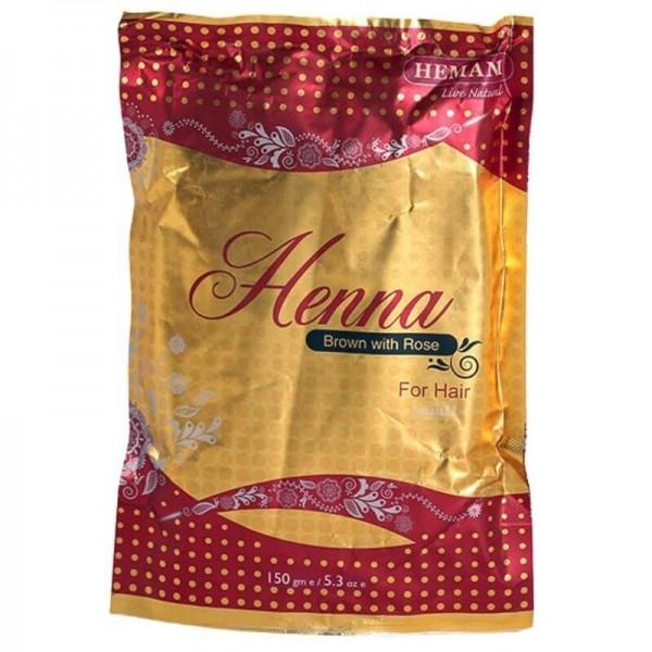 Brown Henna Powder with Rose - Hemani
