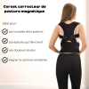 Magnetic posture correction sleeve