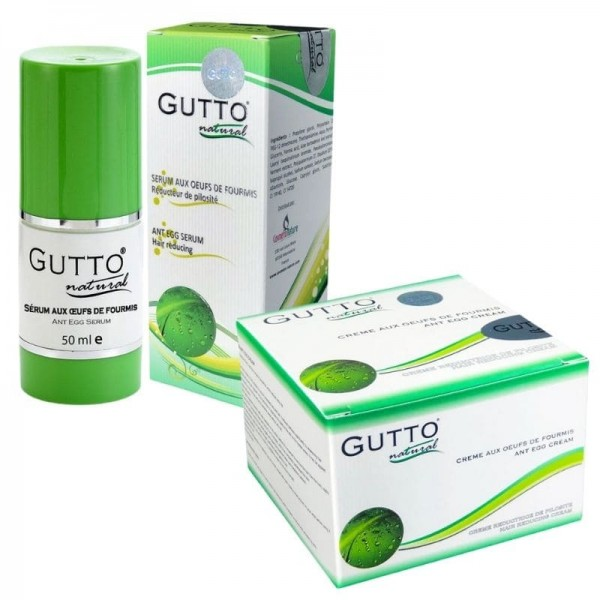 SMALL Permanent Hair Removal Pack :GUTTO Cream 50ml/Oil 50ml