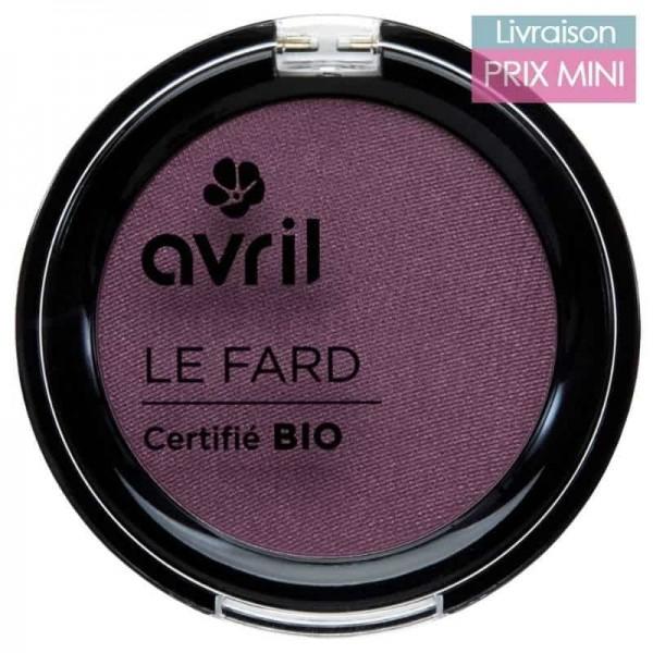 Fard à paupières bio, Prune irisé - Avril