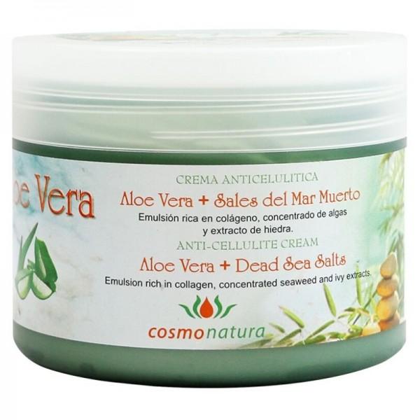 Anti-cellulite aloe vera and Dead sea salt gel