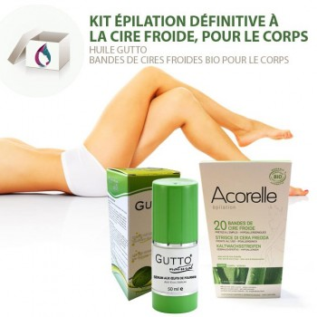 SET 2 Permanent Body Hair Removal, Cold Wax Strips & AntEgg Serum